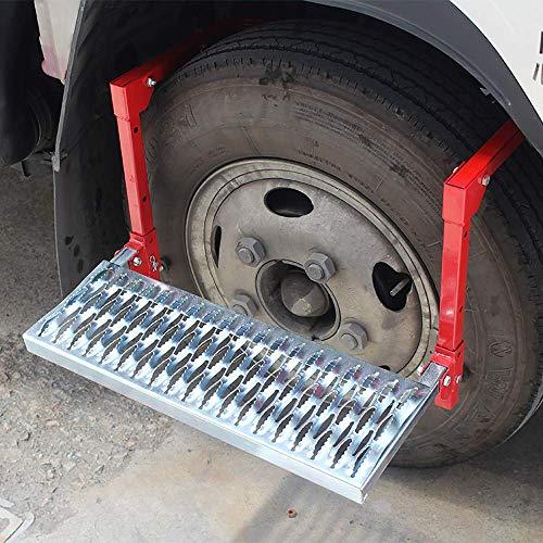 SFSGH Pedal de neumático, Escalera Alta Plegable Multifuncional para Coche, Altura libremente Ajustable, Carga máxima 135 kg, Apto para vehículos Todo Terreno, todoterrenos, Camiones