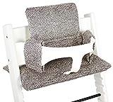 UKJE - Cojín reductor de asiento para Stokke Tripp Trapp, acolchado, práctico y grueso, estampado de leopardo, lavable a máquina, 2 piezas, algodón Öko-Tex