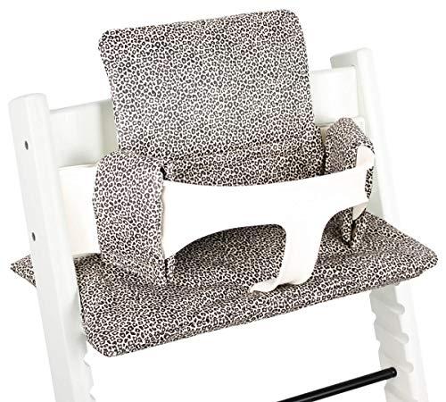 Beschichtetes Sitzkissen Sitzverkleinerer Kissen von UKJE für Stokke Tripp Trapp Beschichtet Praktisch und dick gepolstert Sand Leopardenmuster Maschinenwaschbar 2-teilig Öko-Tex Baumwolle