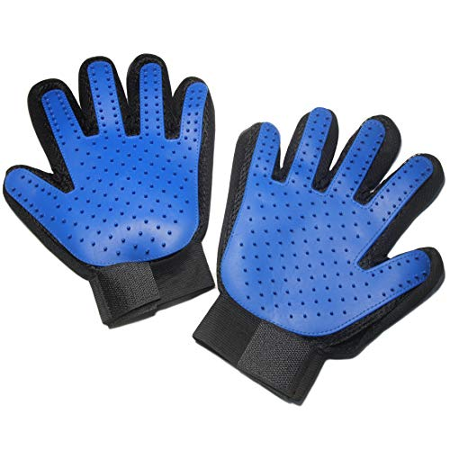 Maxpower Planet Pet Grooming Gloves - Gentle Deshedding Pet Hair Remover Mitt for Dogs, Cats and Horses - 1 Pair