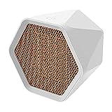 Calefacción Calentador De Espacio Portátil PTC Calefacción De Cerámica El Control De Temperatura Inteligente Es Desconocido. Calidad ABS Material Ignífugo De La Llama, 1000W / 600W ( Color : White )