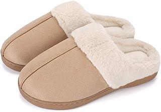 LACOFIA Pantoufles d'hiver pour Homme Femme Chaussons Classiques en Mousse à mémoire Chaussures d'hiver Anti-dérapantes et...