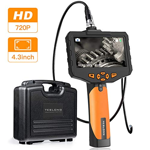 Teslong Inspektionskamera 4,3-Zoll-Farb-IPS-Monitor Mit 720P HD-Auflösung Aufnehmen Industrie IP67 wasserdichte Hand Endoskop Kamera Kabel 5,5mm Durchmesser(Länge 1 m)