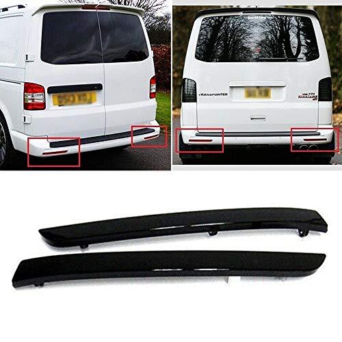 2 x Reflektoren für hintere Stoßstangen, links und rechts, passend für T5 Transporter/Caravelle/Multivan 2012–16.