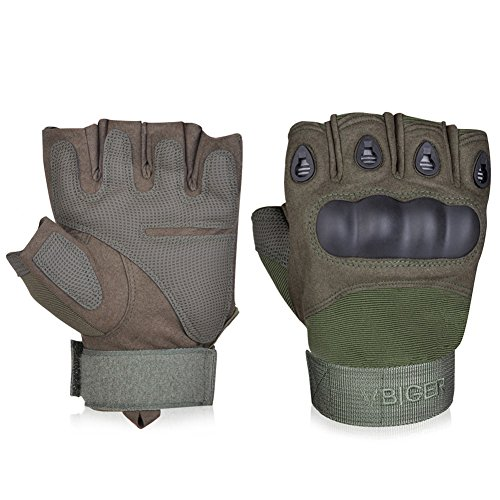 Vbiger Tactical Gloves Military Gloves Shooting Gloves Fingerless Half-finger Riding Hunting...