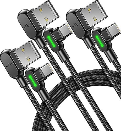 USB C Kabel, Mcdodo [3 stück] 3,1A QC 3,0 Typ C Schnellladekabel, (0,5+1,2+3m) USB-C Handy Ladekabel Datenkabel mit Geflochtenem Nylon für Samsung S21 S20 Note 10 Xiaomi Huawei Google LG OnePlus usw.