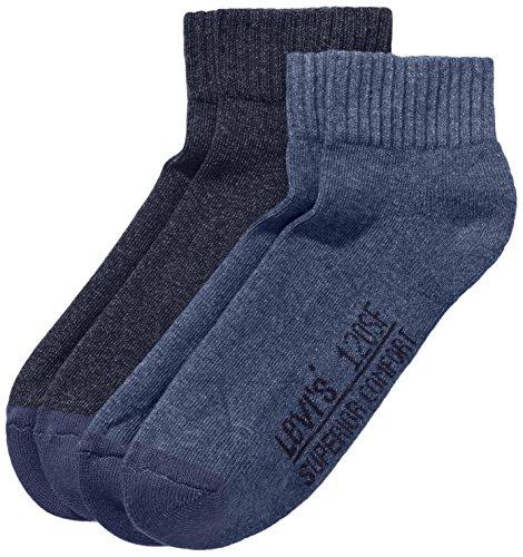 Levi's Herren Levis 120SF Cut 2P Socken, Blau (mid Denim 824), 39/42 (Herstellergröße: 39-42)