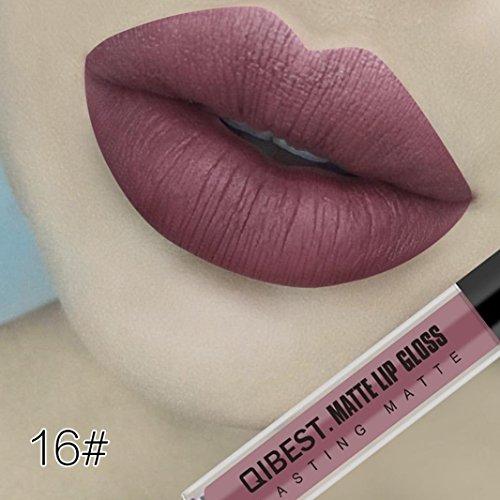 Malloom Mode Lip Makeup Sexy Matte Samt Langlebig Lipgloss Flüssig Lippenstift Wasserdicht...
