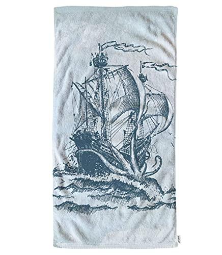 Ocean Sailing Sailing Octopus Mano Toallas de algodón Toallitas de algodón, Vintage...