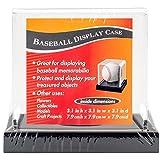 Darice Baseball Acrylic Display Case 3.65'X3.65'X3.5'-Black Base