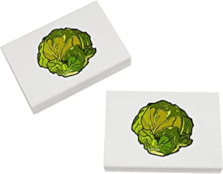 Azeeda 2 x 45mm 'Brussel Sprout' Erasers / Rubbers (ER00021699)