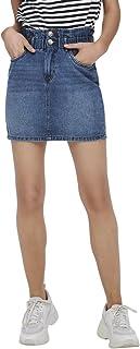 Only Women's ONLMILLIE LIFE HW MINI PAPER Skirt