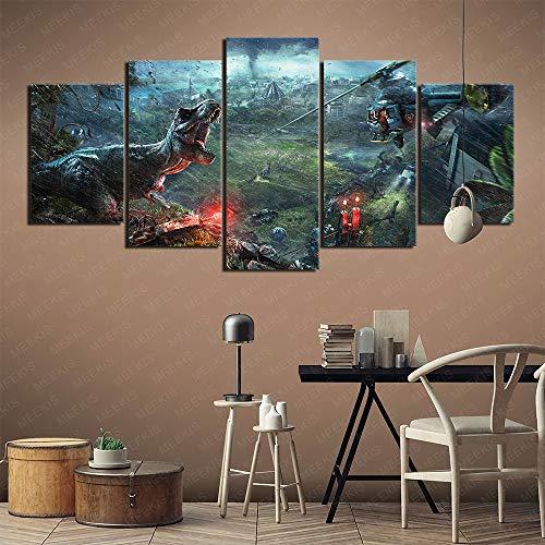 Art deco Jurassic World Evolution 5 pinturas de portafolio de arte Pinturas decorativas populares en Europa y América Pintura sin marco 150x80cm