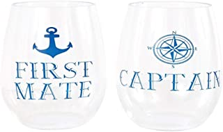 DEI 20632 Plastic Stemless Wine Glass, 8.0 x 3.0 x 4.5, Blue