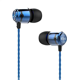 SoundMAGIC E50 Earphones Noise Isolating in-Ear Earbuds Wired Powerful Bass HiFi Stereo Sport Headphones (Blue)