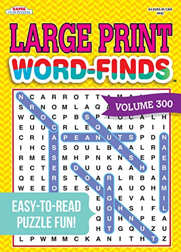 Large Print Word-Finds Puzzle Book-Word Search Volume 300