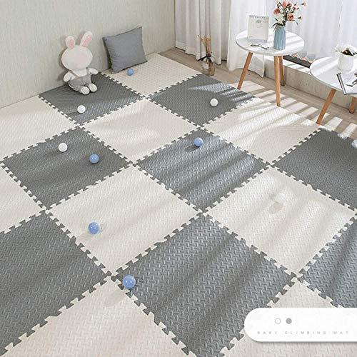 ACARYI Baby Puzzle-Matten für Kinder Spielteppich Interlocking Exercise Fliesen Teppiche Boden Fliesen Spielzeug Teppich weichen Teppich Klettern Eva-Schaum-Pad (Grey,24 Pieces)