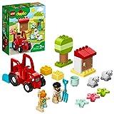LEGO 10950 Duplo Tractor y Animales de la Granja Juguete para Niños de a Partir de 2 años con Figuritas de Oveja y Granjero