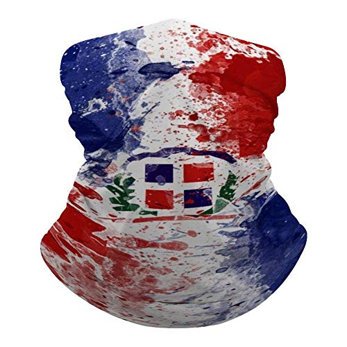 Bandera de la Repblica Dominicana Calentador de Cuello Bandana Cooling Cuello Polaina Verano Transpirable Proteccin contra el Polvo UV Balaclava Cubierta Facial para Deportes al Aire Libre