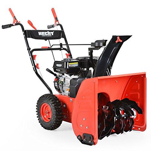 HECHT Benzin-Schneefräse 9556 Schneeschieber (56 cm Arbeitsbreite 4,0 kW / 5,5 PS)