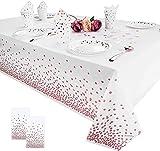 Manteles de mesa de fiesta manteles de punto oro rosa manteles...