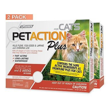 6 doses American Standart PetAction Plus for Cats x2 AS