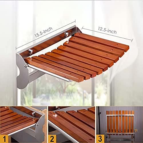 Folding Shower Seat Wall Mounted, 15