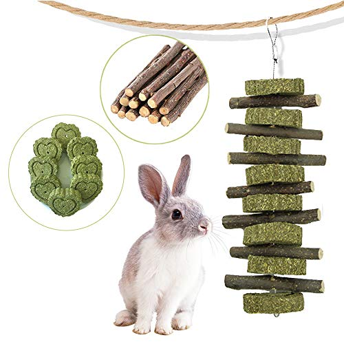 AIYA Rabbit Toys, Guinea Pig Toys for Teeth Suitable for Bunny, Hamsters, Chinchillas, Parrots and Other Small Pets.