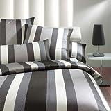 Joop! Bettwäsche Rapid Stripes Kiesel 4043-9 1 Bettbezug 155 x 220 cm + 1 Kissenbezug 80 x 80 cm