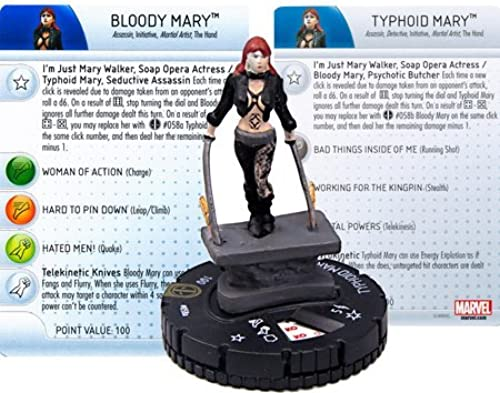 Deadpool Heroclix  Typhoid Mary Bloody Mary  58a by HeroClix