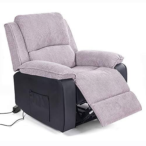 VBARV Sillón reclinable Power Lift, sillón reclinable eléctrico de Tela, ángulo de Control Amplio de 110-160 °, 2 Bolsillos Laterales, sillón ergonómico para Sala de Estar y Dormitorio