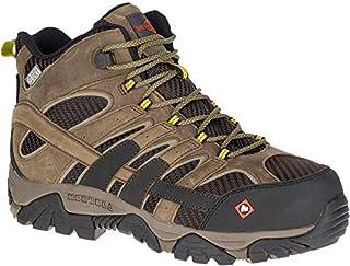 Merrell Men's, Moab 2 Vent Mid Waterproof Composite Toe Work Boots Boulder 10.5 M