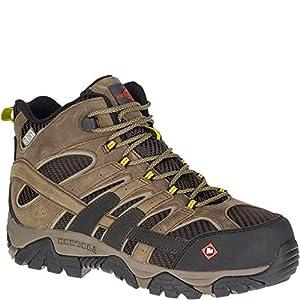 Merrell Men?S Moab 2 Vent Mid Waterproof Composite-Toe Work Boot, Boulder, 10 Wide