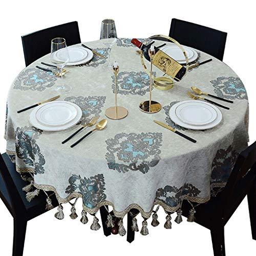 Europese grote ronde stof tafelkleed kleine salontafel rond kussen restaurant ronde tafel tafelkleed Home Little