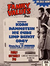 The Family Values Tour 1998 Postcard: Featuring Korn, Rammstein, Ice Cube, Limp Bizkit, Orgy, Plus Deejay C-minus Spinning Before & Between Sets: Friday, October 9, 1998, 7pm @ Great Western Forum, Inglewood, California, USA (1998 Printing)