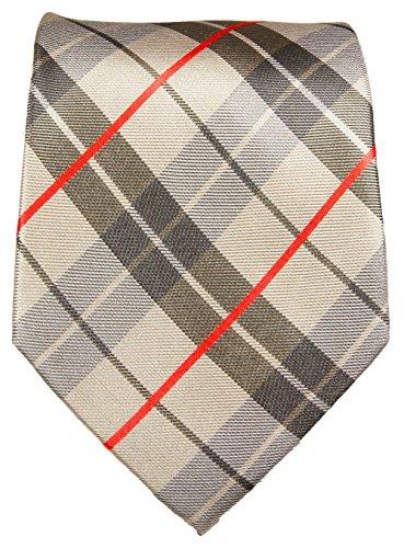 Paul Malone Cravate tartan 100% soie