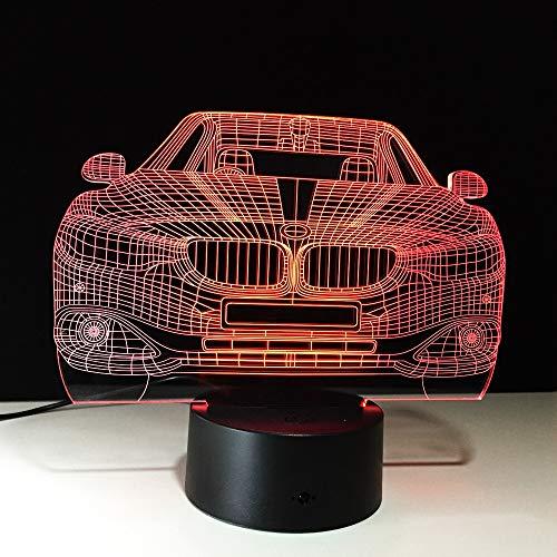 RMRM 3D Veilleuse Véhicule Big Auto Voiture 3D Night Light Plaque Acrylique 7 Couleurs Changement LED Lampe de Table De Bureau Enfants Chevet Lumière De Sommeil