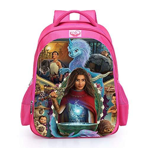 Muchachas Raya y el último dragón mochilas escolares Bolsas de almuerzo para estudiantes Bolsa de hombro Bolsas impresas 3D, 20, M,