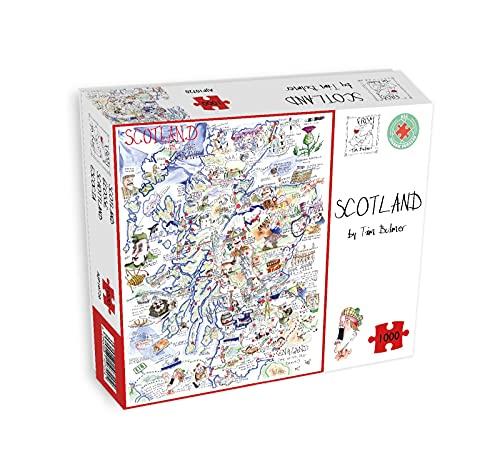All Jigsaw Puzzles AJP10720 - Mapa cómico de Escocia Tim Bulmer (1000 Piezas)