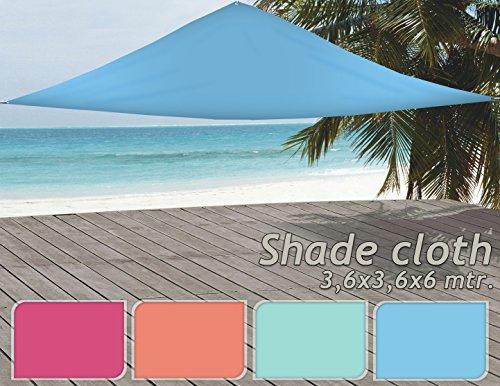Tenda da sole protezione solare 360x 360x 360cm Rosa Arancione Turchese Blu