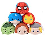 Tsum Tsum Disney Marvel Set of 6- Avengers Spiderman Mini 3.5' Plush Dolls