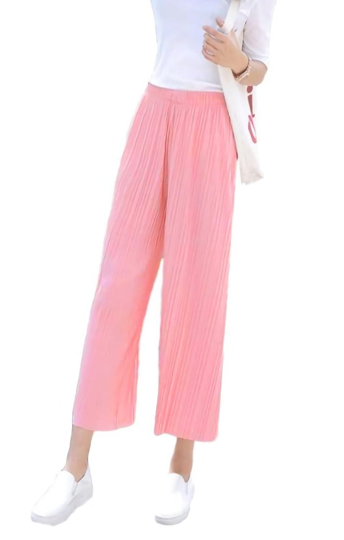 [ルビタス] ガウチョ パンツ スカーツ ワイド ウエスト ゴム スカンチョ おおきいサイズ ボトムス