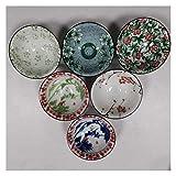 MissLi 6 Unids/Set Clásico Taza De Té De Porcelana Azul Y Blanca Tazas De Café Pintadas A Mano Cono De Cerámica Cuenco De Té Chino Accesorios (Size : 1)