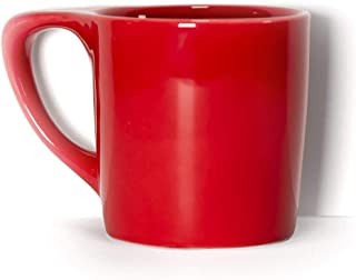 notNeutral LINO 10 oz Porcelain Coffee Mug - Rhubarb Red | Single Mug | Ergonomic | Unique Coffee Mug | For Use at Home and Coffee Shops