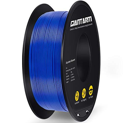 Filamento PLA 1.75mm, GIANTARM PLA Filamento para impresión 3D, 1kg 1 Spool,azul…