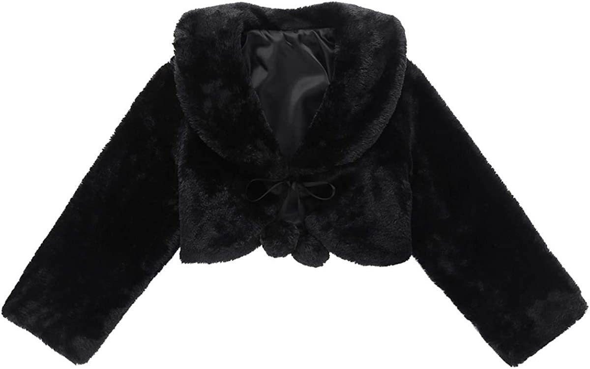 MSemis Baby Girls Winter Faux Fur Sleeves All items free shipping Coat Long High order Weddin Shrug