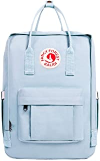 KALIDI Casual Backpack for Women,15 Inches Laptop Classic Backpack Camping Rucksack Travel Outdoor Daypack College School Bag Light Blue