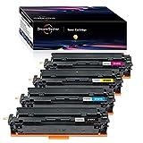 Dream-seeker Compatible con HP 201X CF400A CF400X CF401A CF401X CF402A CF402X CF403A Cartuchos de Tóner para HP Color Laserjet Pro M252dw M252n M277n M277dw M274n M277c6(4 Paquetes)