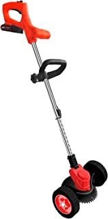 Yorten 2000mAh 24V Lithium Electric Weeder Rechargeable Cordless Lawn Mower Weeding Machine Stretchable Hand-push Grass Tr...