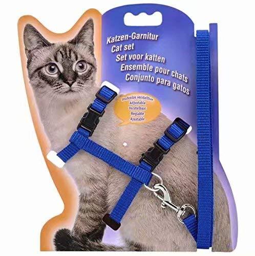 Compre show Ed nylon Harness per Cani Gatti Conigli 110 cm Blu